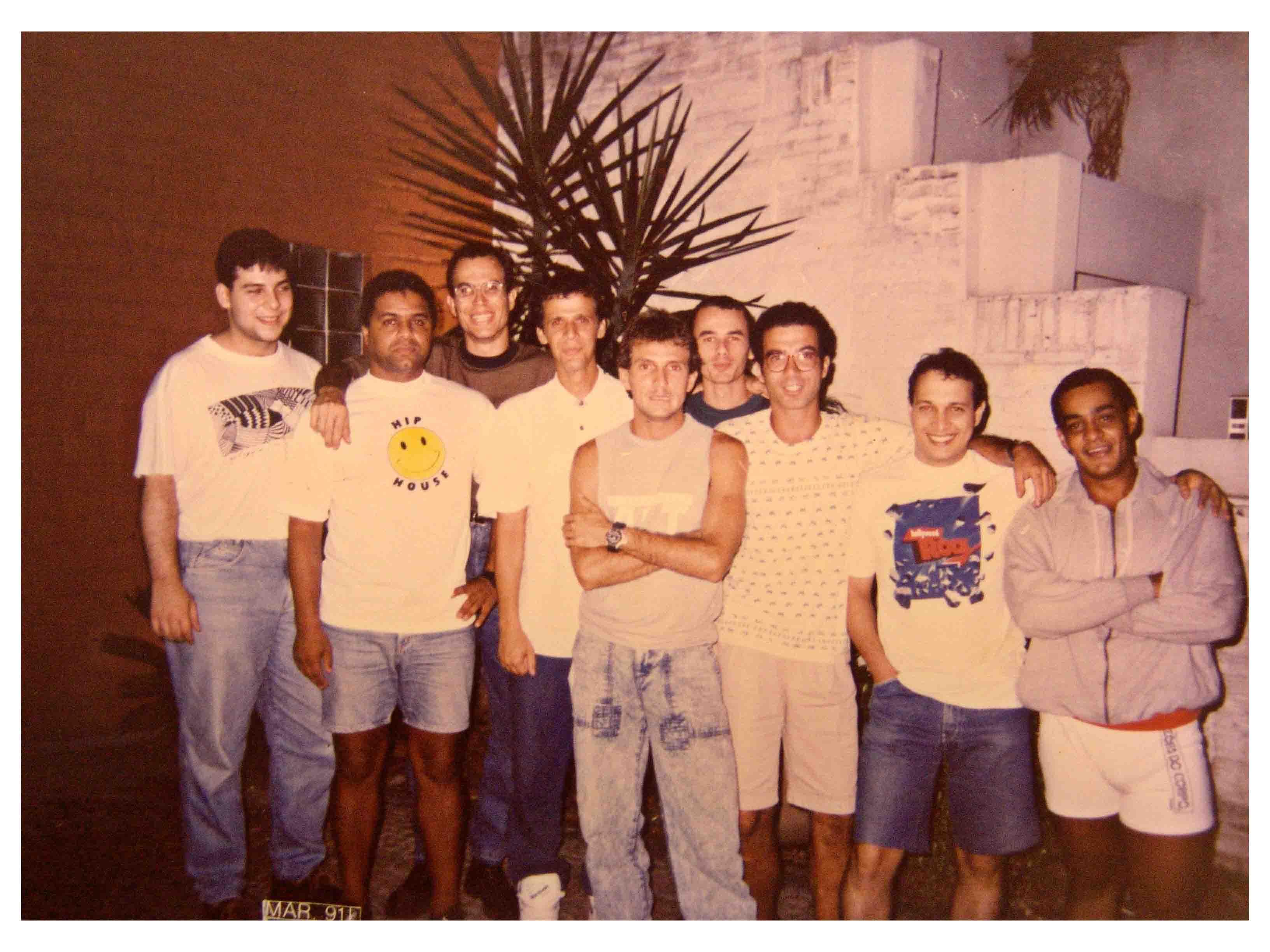 Reunião de DJs Capixabas nos anos 80 - Renato Vervloet, Badu, Keko, Dedeko, ?, Paulinho, Zé Luis (Josh), Casado e Monstrinho