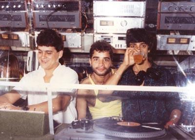 Almerindo, Fábio Pirajá e Toninho Cipreste - Cabine da Blow Up - 1986