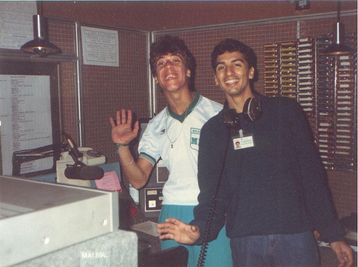 Serginho Murilo e Saul Josias - Rádio Capital - maio de 1989