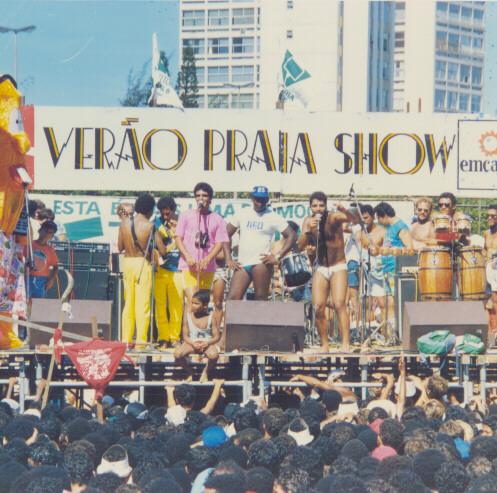 Anthário Filho (falecido) e Fábio Pirajá - Verão Praia Show na Praia da Costa - 1985