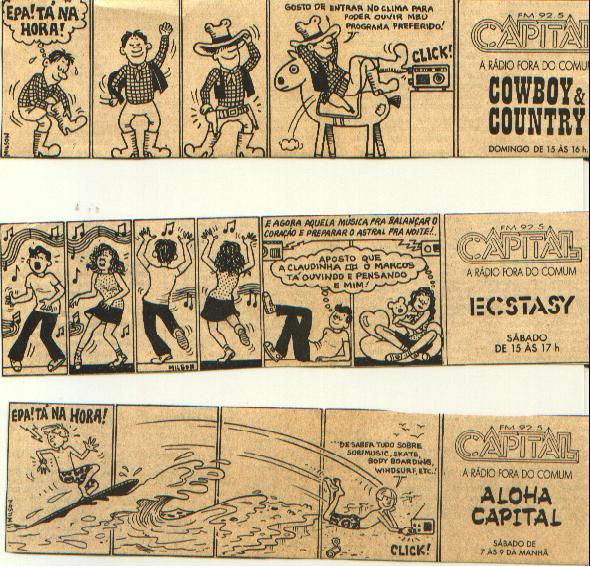 Tiras do Jornal A Gazeta da Rádio Capital - 1987