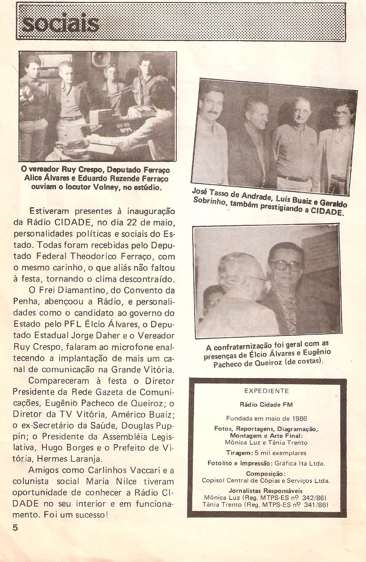 Badu nos estúdios da antiga Gazeta FM - 1980