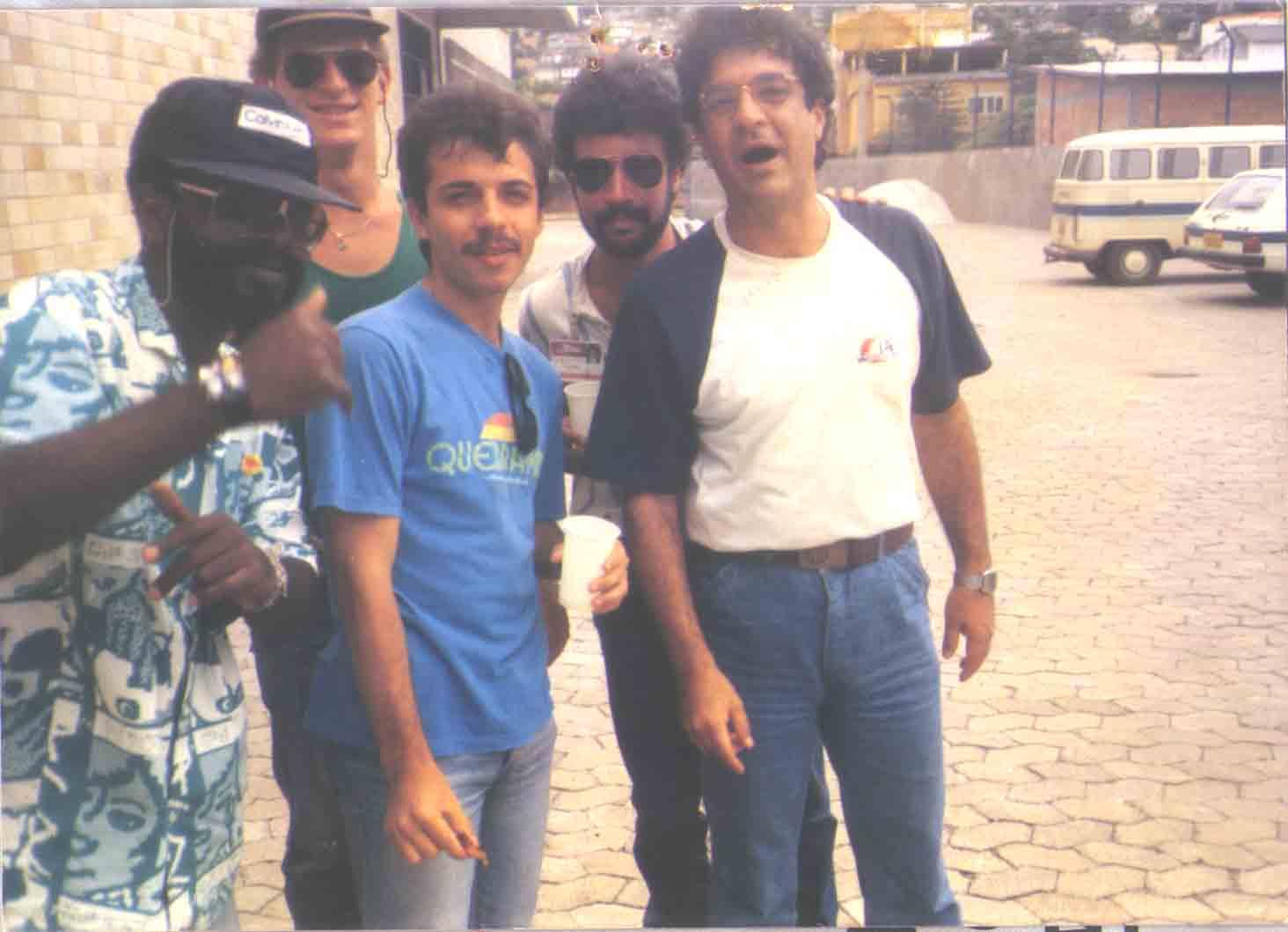 Zé Roberto Mignoni, Raimundo Fagner, Adilson Caetano e Coelho - Tribuna FM - 1981