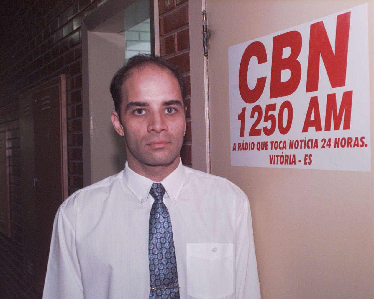 Fábio Pirajá - Estúdio da Rádio CBN 1250AM - 1997