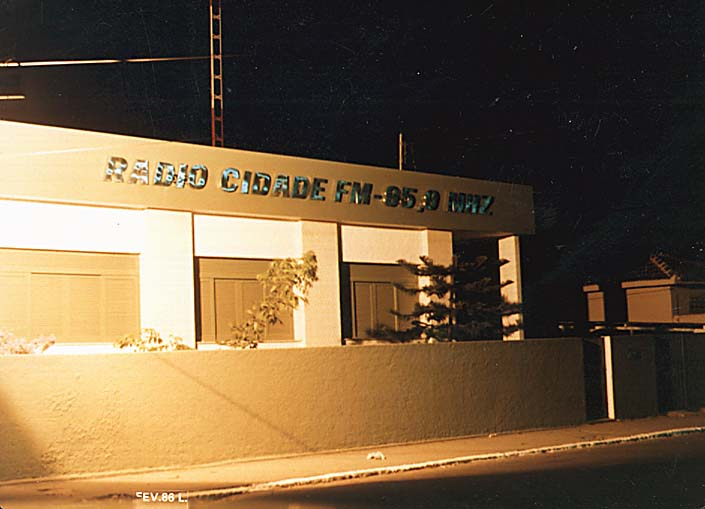 Sede da Rádio Cidade 95,9 - Prainha 1986