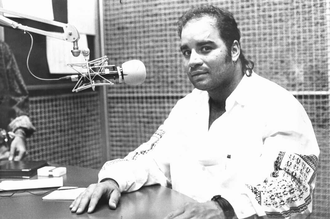 Fábio Pirajá - Estúdio da Rádio Gazeta AM - 1992